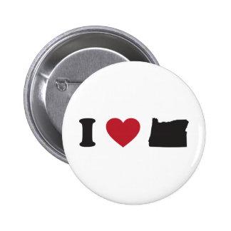 I Love Oregon Pinback Buttons