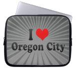I Love Oregon City, United States Laptop Sleeve