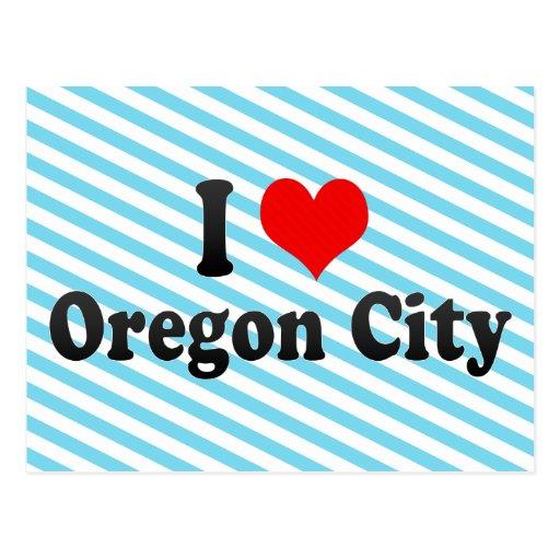 I Love Oregon City, United States Postcard