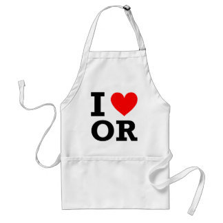 I Love Oregon Design Adult Apron