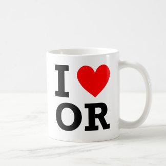I Love Oregon Design Coffee Mug
