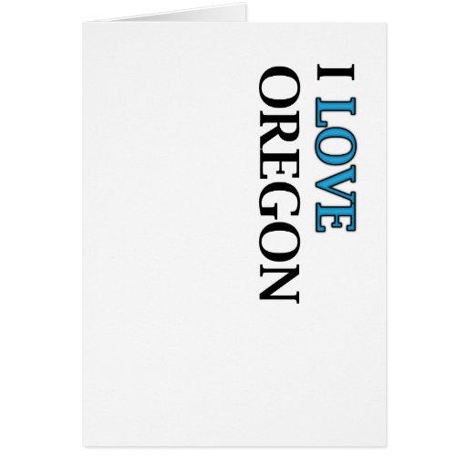 I Love Oregon Design Greeting Cards