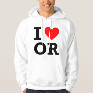 I Love Oregon Design Hoodie