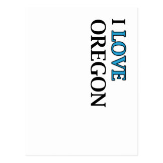 I Love Oregon Design Postcard