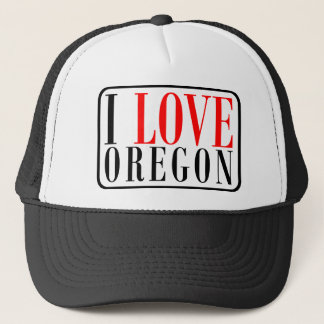 I Love Oregon Design Trucker Hat