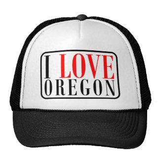 I Love Oregon Design Trucker Hat