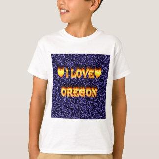 I love oregon fire and flames T-Shirt