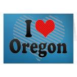 I Love  Oregon Greeting Card