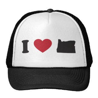 I Love Oregon Mesh Hat