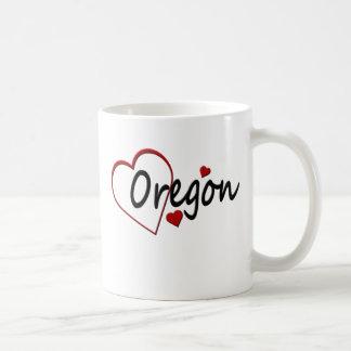 I Love Oregon Hearts Mugs