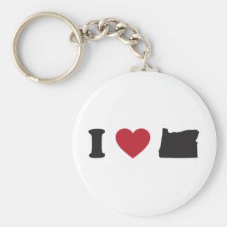 I Love Oregon Keychain
