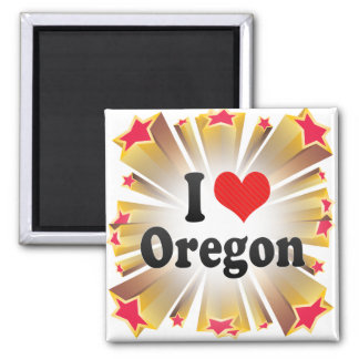 I Love  Oregon Refrigerator Magnets