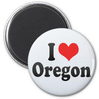 I Love  Oregon Refrigerator Magnet