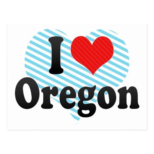 I Love  Oregon Post Cards