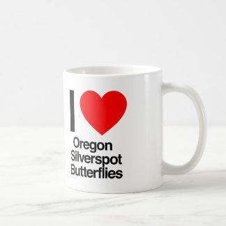 i love oregon silverspot butterflies coffee mug