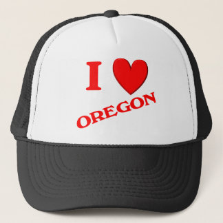 I Love Oregon Trucker Hat