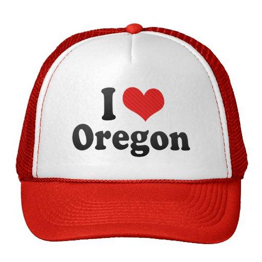I Love  Oregon Trucker Hats