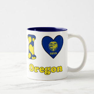 I love Oregon Two-Tone Coffee Mug