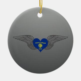 I Love Oregon -wings Christmas Tree Ornaments