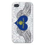 I Love Oregon -wings iPhone 4 Covers