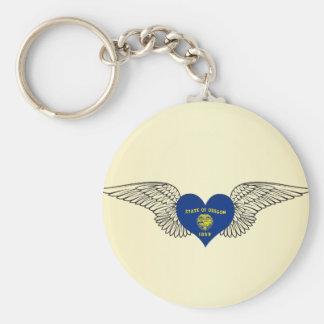 I Love Oregon -wings Key Chain