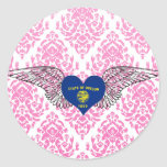 I Love Oregon -wings Stickers