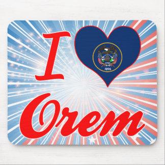 I Love Orem, Utah Mousepads