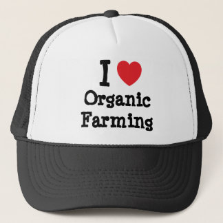 I love Organic Farming heart custom personalized Trucker Hat