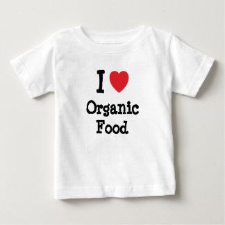 I love Organic Food heart custom personalized Baby T-Shirt