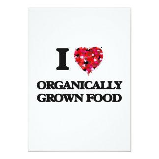 I Love Organically Grown Food 5x7 Paper Invitation Card