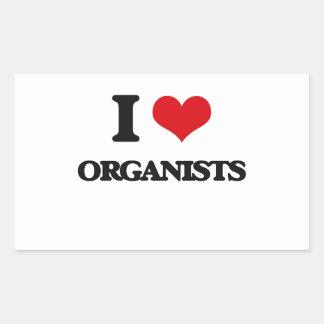 I love Organists Rectangular Sticker