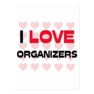 I LOVE ORGANIZERS POSTCARD