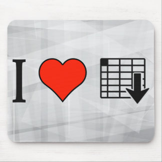 I Love Organizing Spreadsheets Mouse Pad