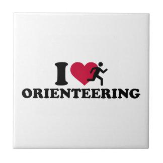 I love Orienteering Ceramic Tile