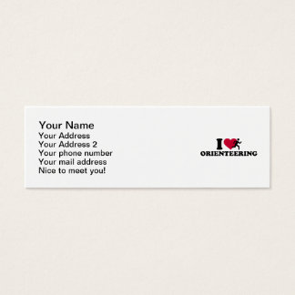 I love Orienteering Mini Business Card