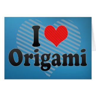 I Love Origami Greeting Card