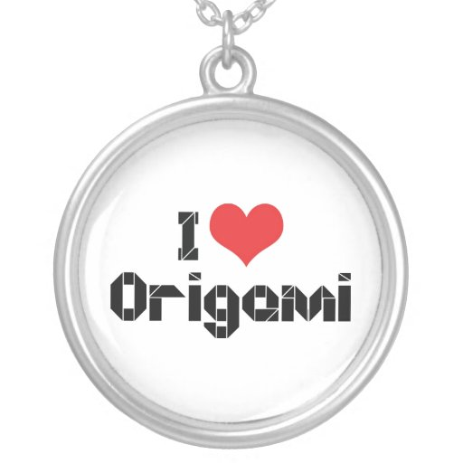 I Love Origami Pendants