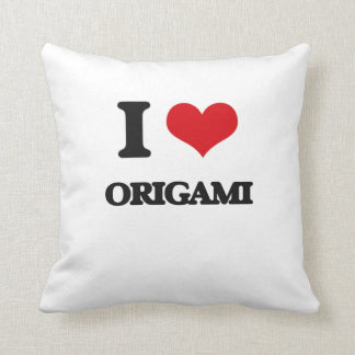 I Love Origami Throw Pillow