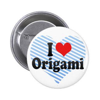 I Love Origami Pinback Button