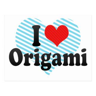 I Love Origami Postcard