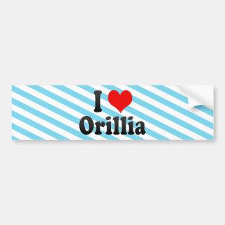 I Love Orillia, Canada. I Love Orillia, Canada Bumper Sticker
