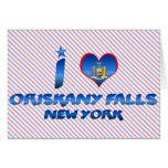 I love Oriskany Falls, New York Greeting Card