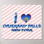 I love Oriskany Falls, New York Print