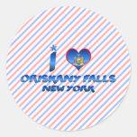 I love Oriskany Falls, New York Stickers