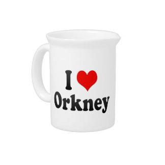 I Love Orkney, South Africa Beverage Pitchers