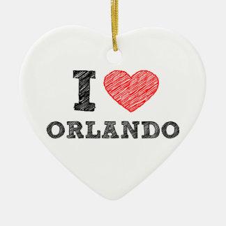 I-Love-Orlando Ceramic Ornament