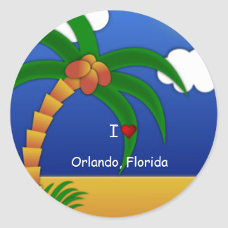 I Love Orlando Florida decorative sticker