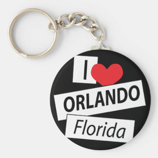 I Love Orlando Florida Keychain