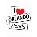 I Love Orlando Florida Postcard