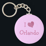 "I Love Orlando Keychain<br><div class=""desc"">&quot;I Love Orlando&quot; heart design on great gift ideas. Cute present for your sweetie.